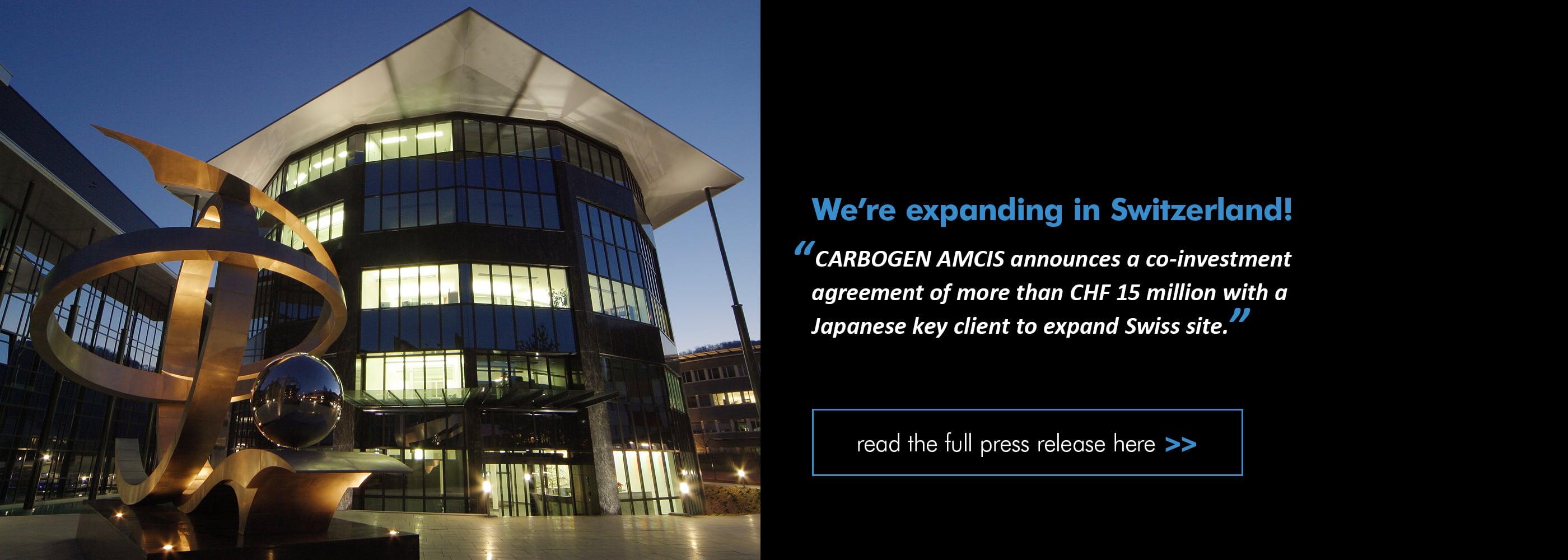 CARBOGEN_AMCIS_Press_Release_Expansion_Bubendorf